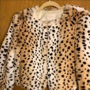 Ann Taylor LOFT animal print jacket